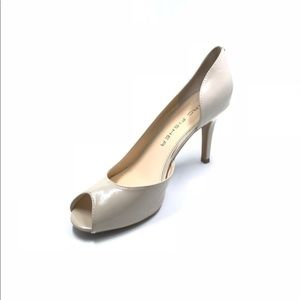 Marc Fisher Half D'Orsay Peep-Toes Nude